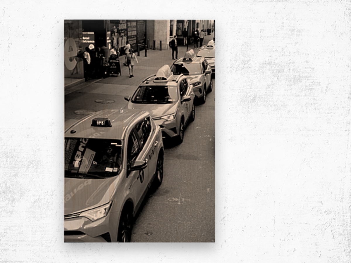 New York Taxis Wood print