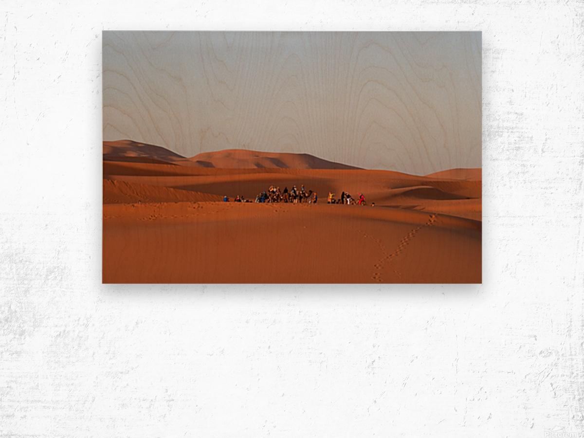 Merzouga sunrise Wood print