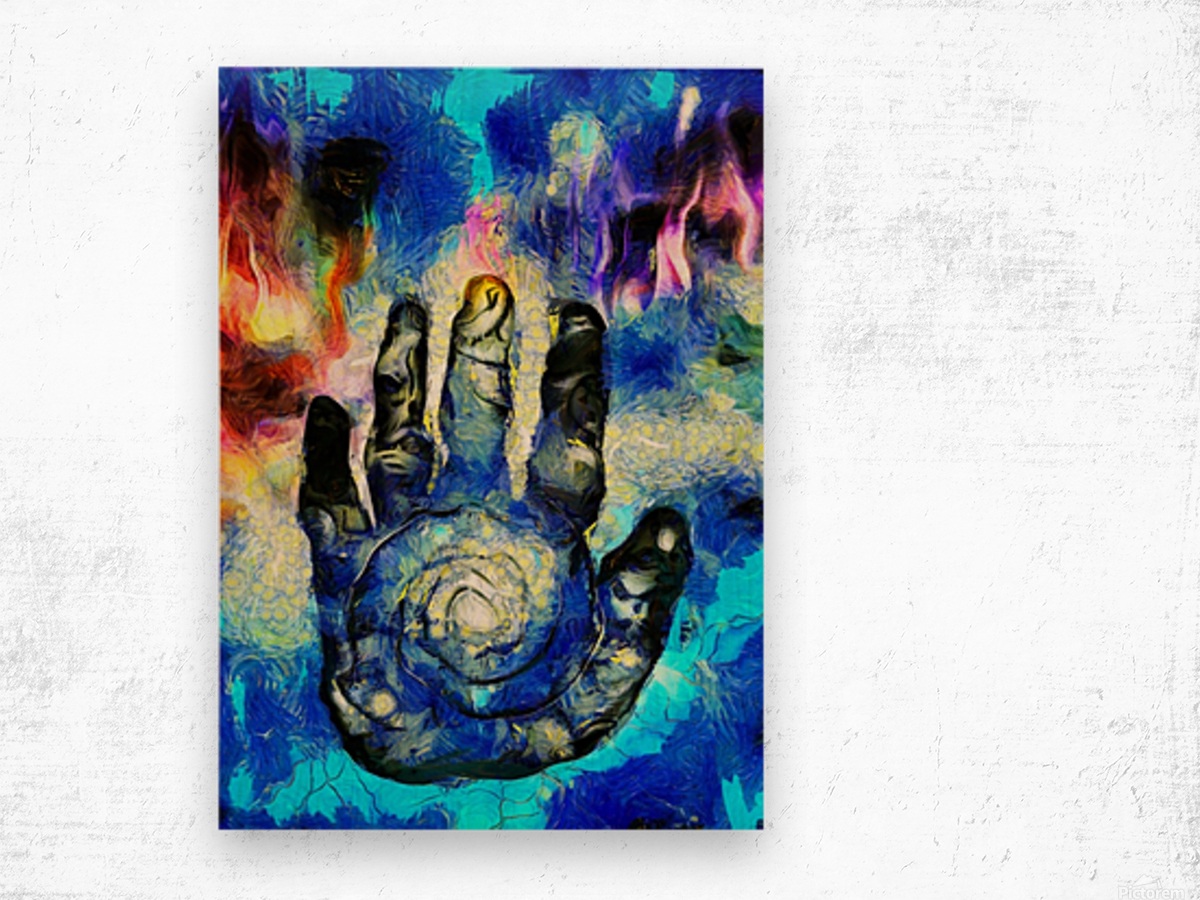 Hand of Time Wood print