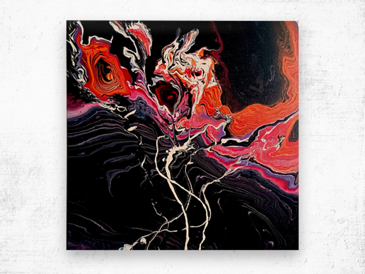 Hell garden Wood print