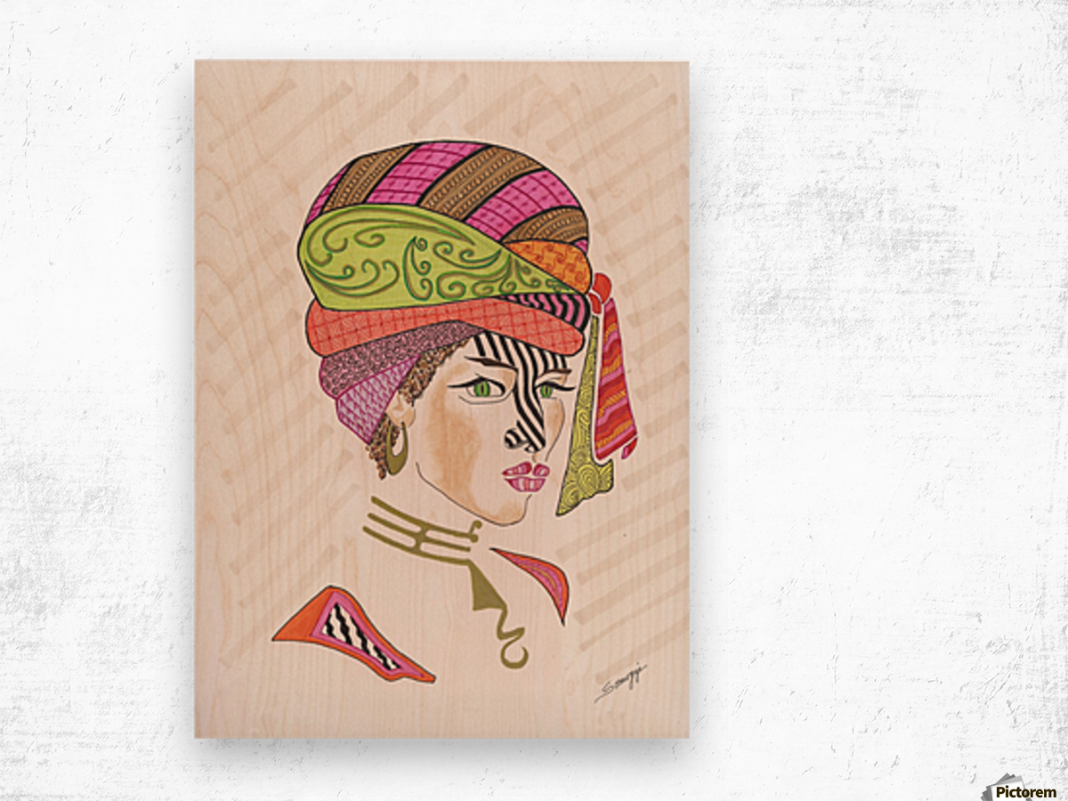 A Woman of a Different Stripe Wood print