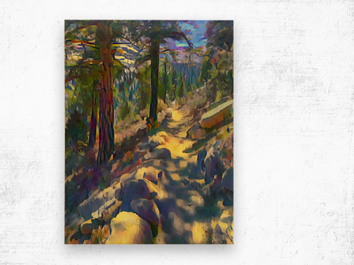 In the shadow Wood print