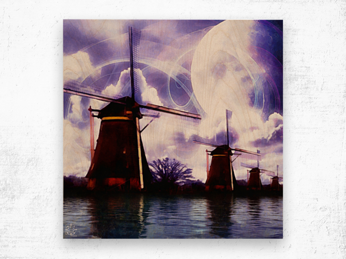 Windcatcher Wood print