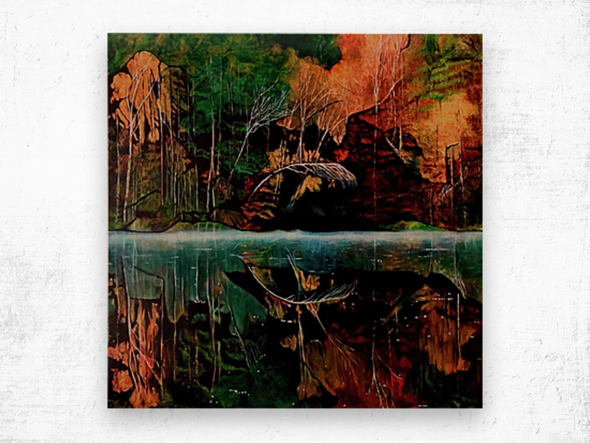 Morning Mist Wood print