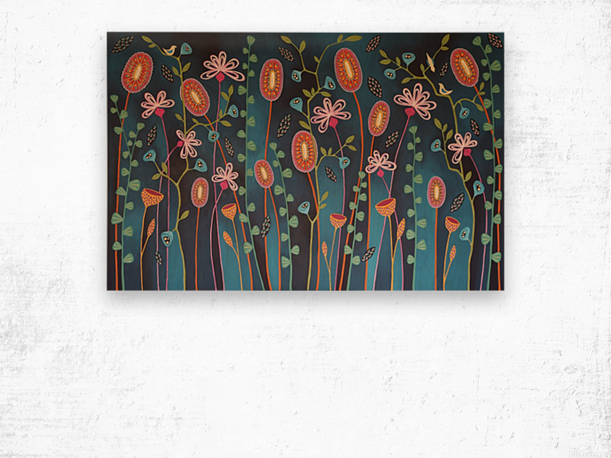 Blooming Lovely Wood print