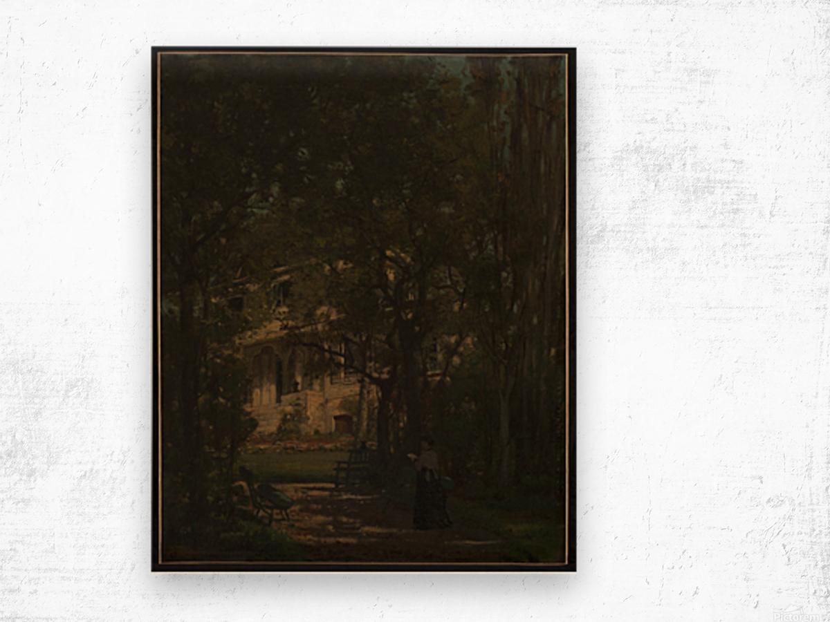 Maison de campagne de l artiste Wood print