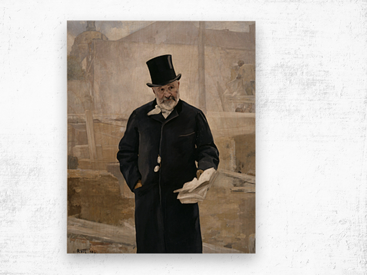 Portrait d Adolphe Alphand Wood print