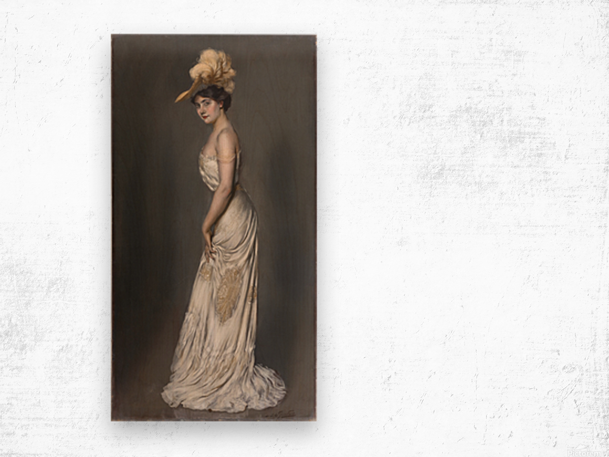 Portrait de madame Rene Prejelan Wood print