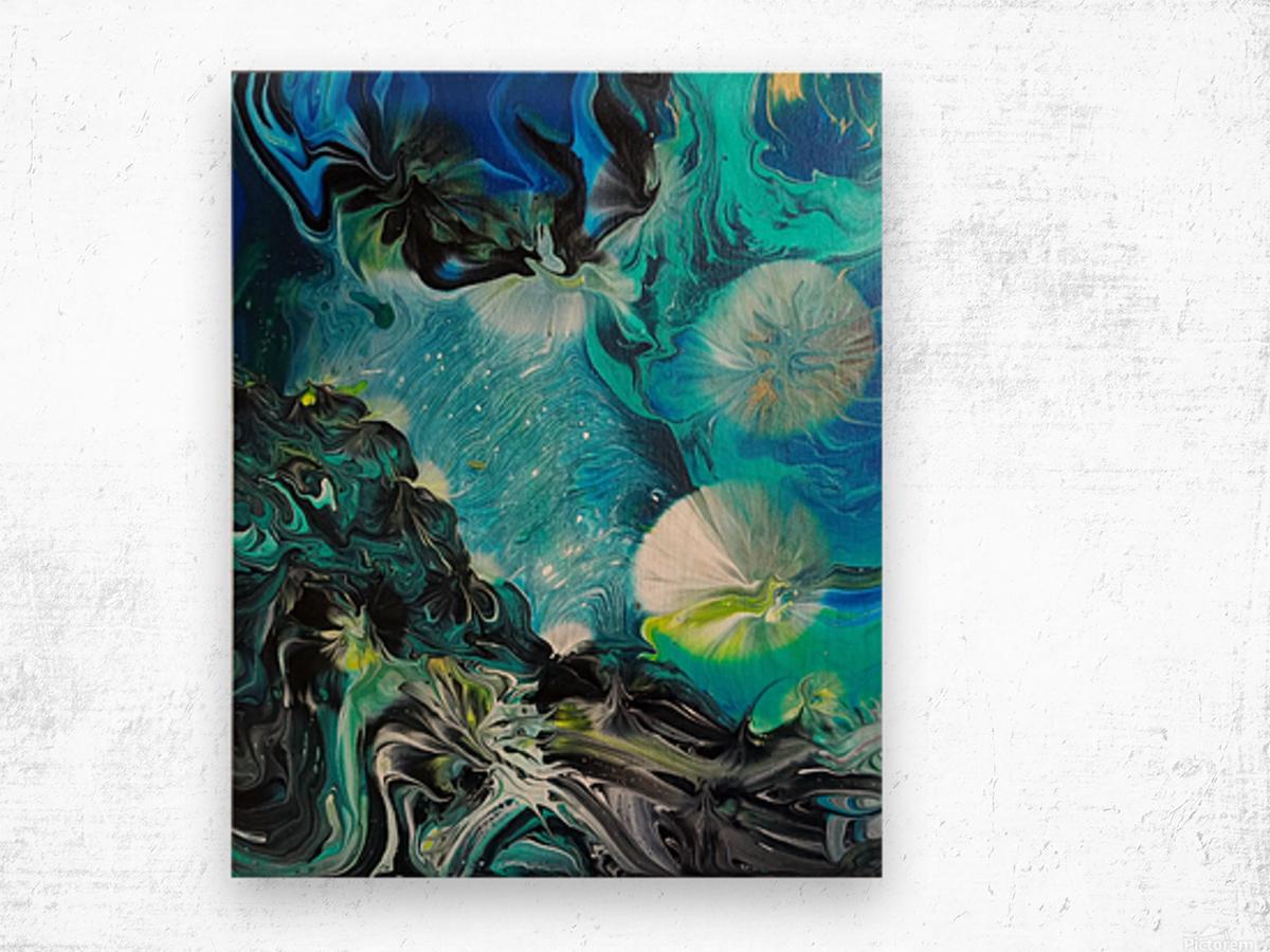 Galactic flowers Wood print