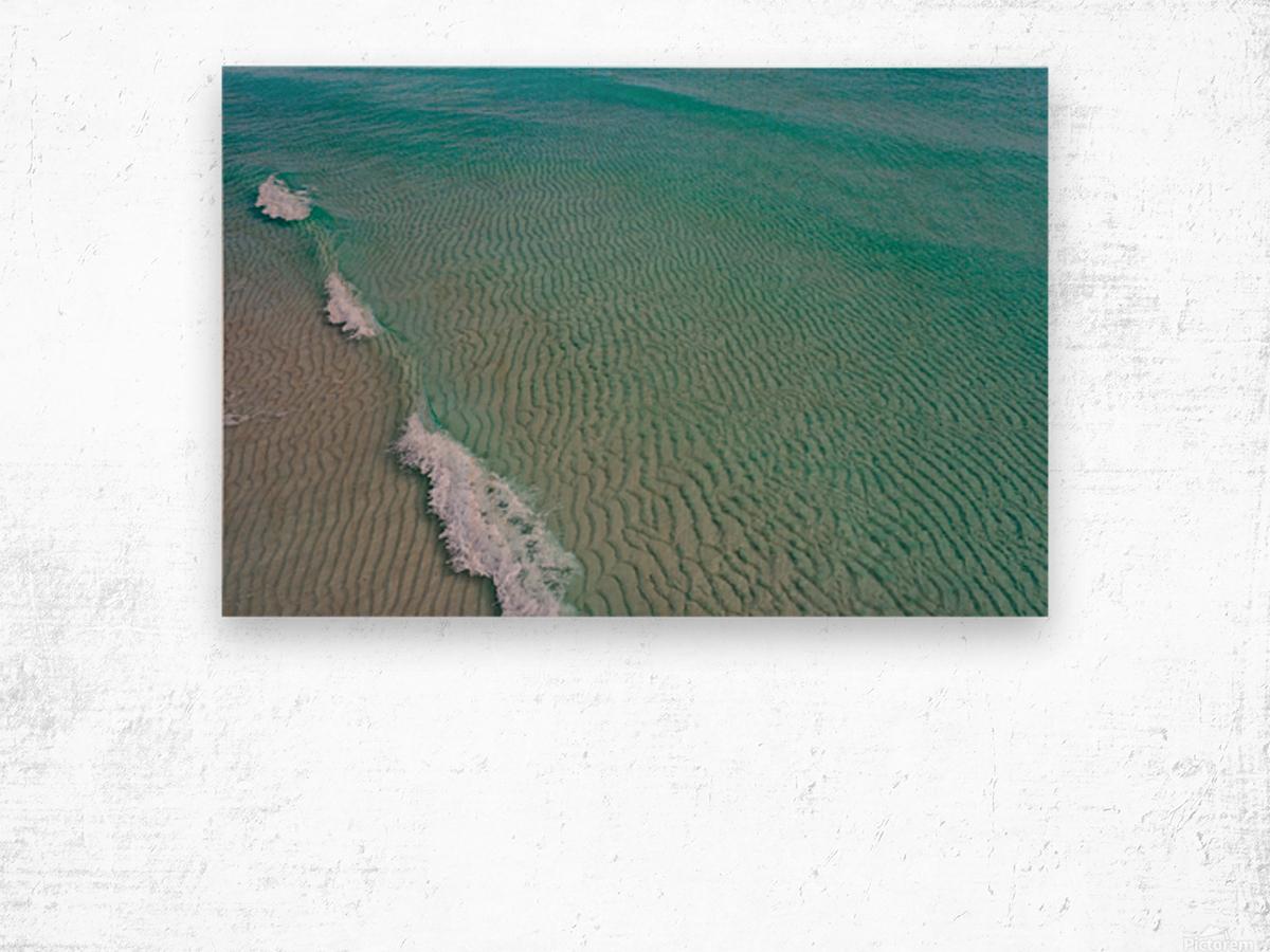 Clear Beach  Wood print