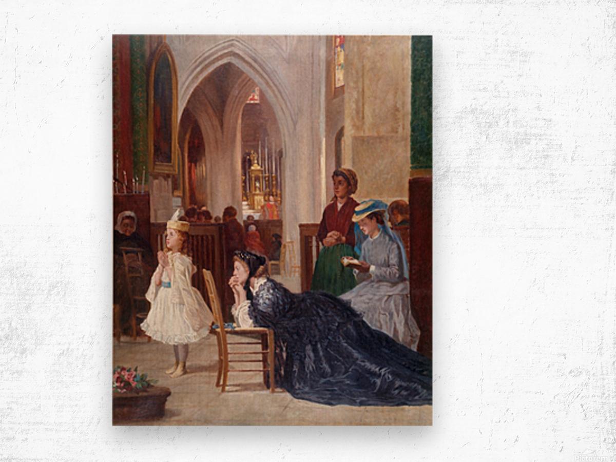 La priere Wood print