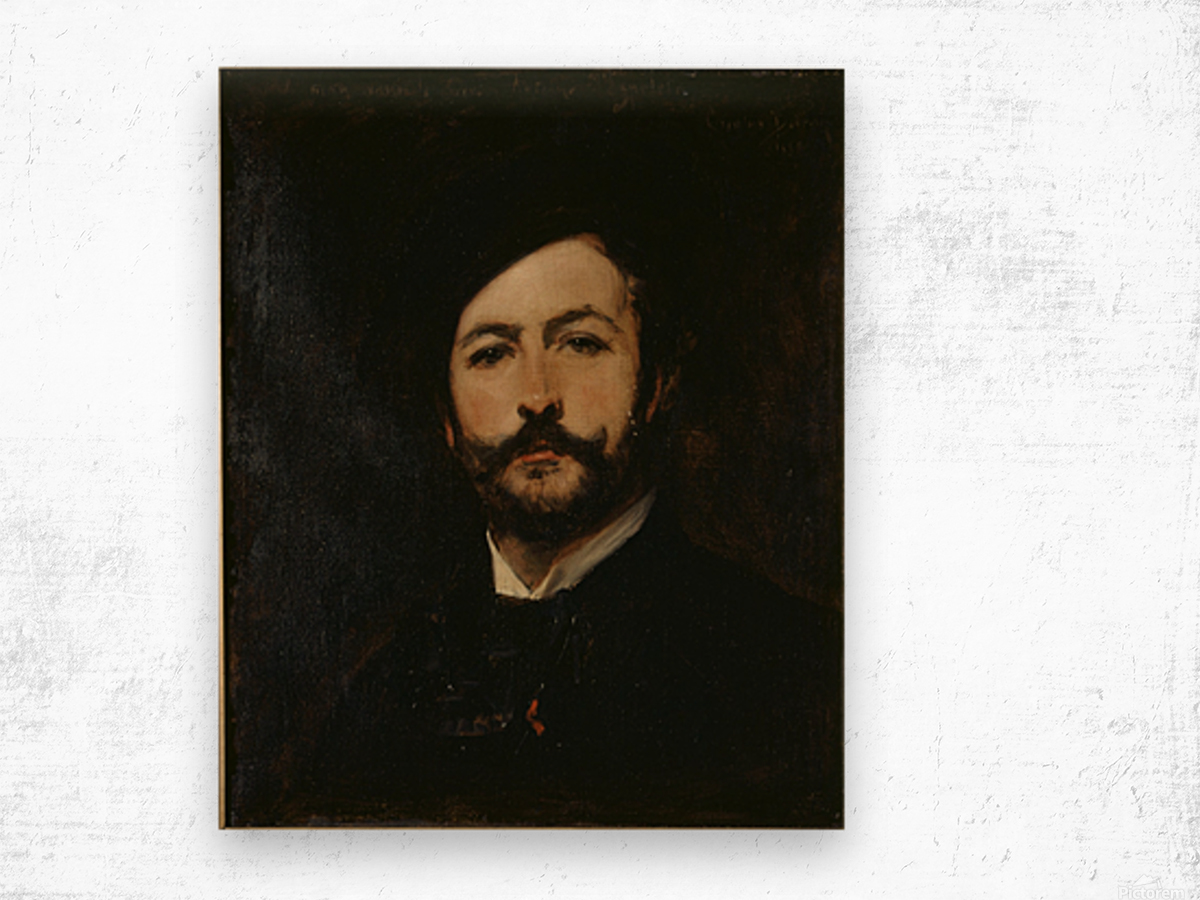 Portrait du baron Antoine d Ezpeleta Wood print
