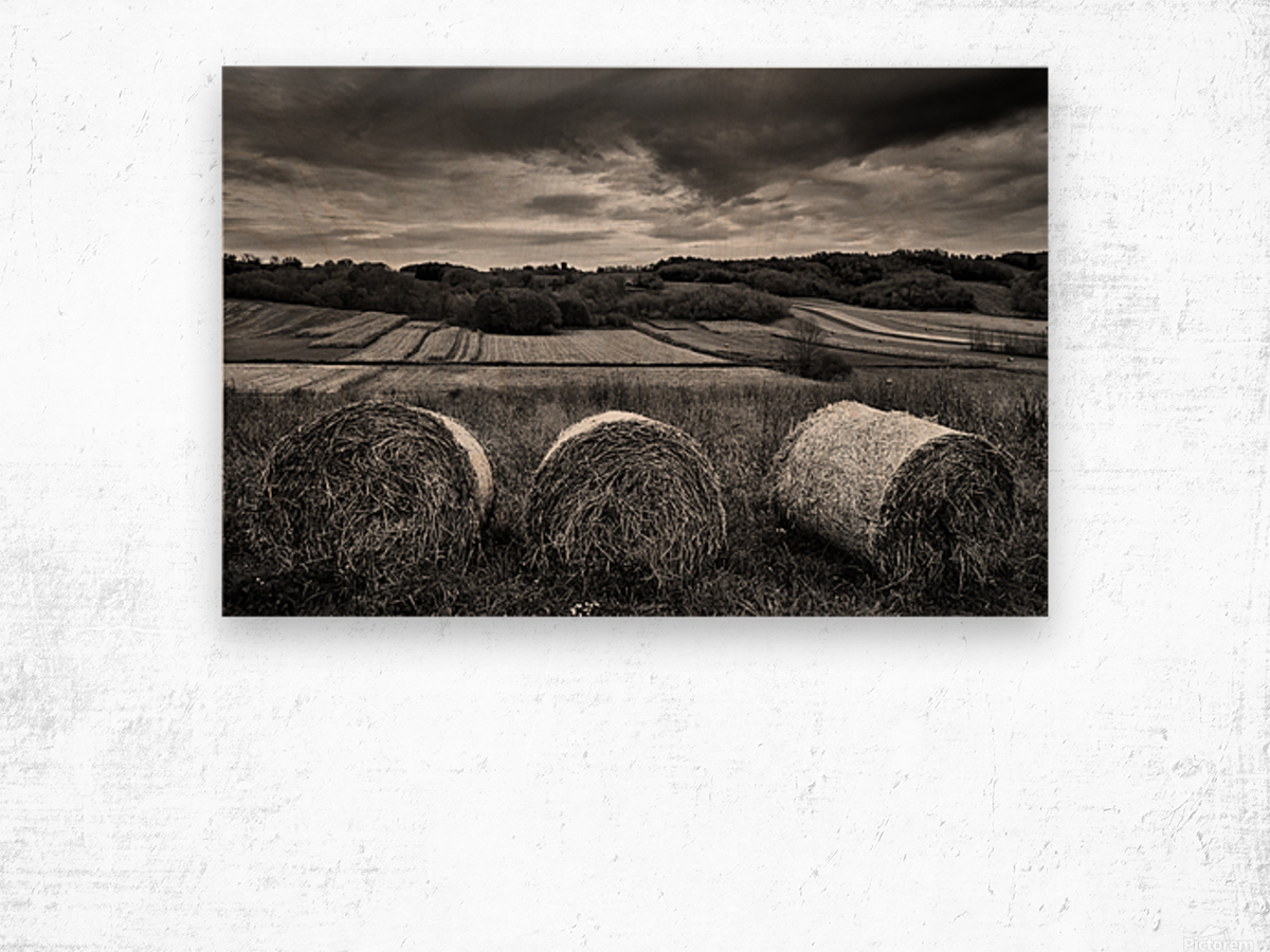 Rolling Down The Hill Wood print