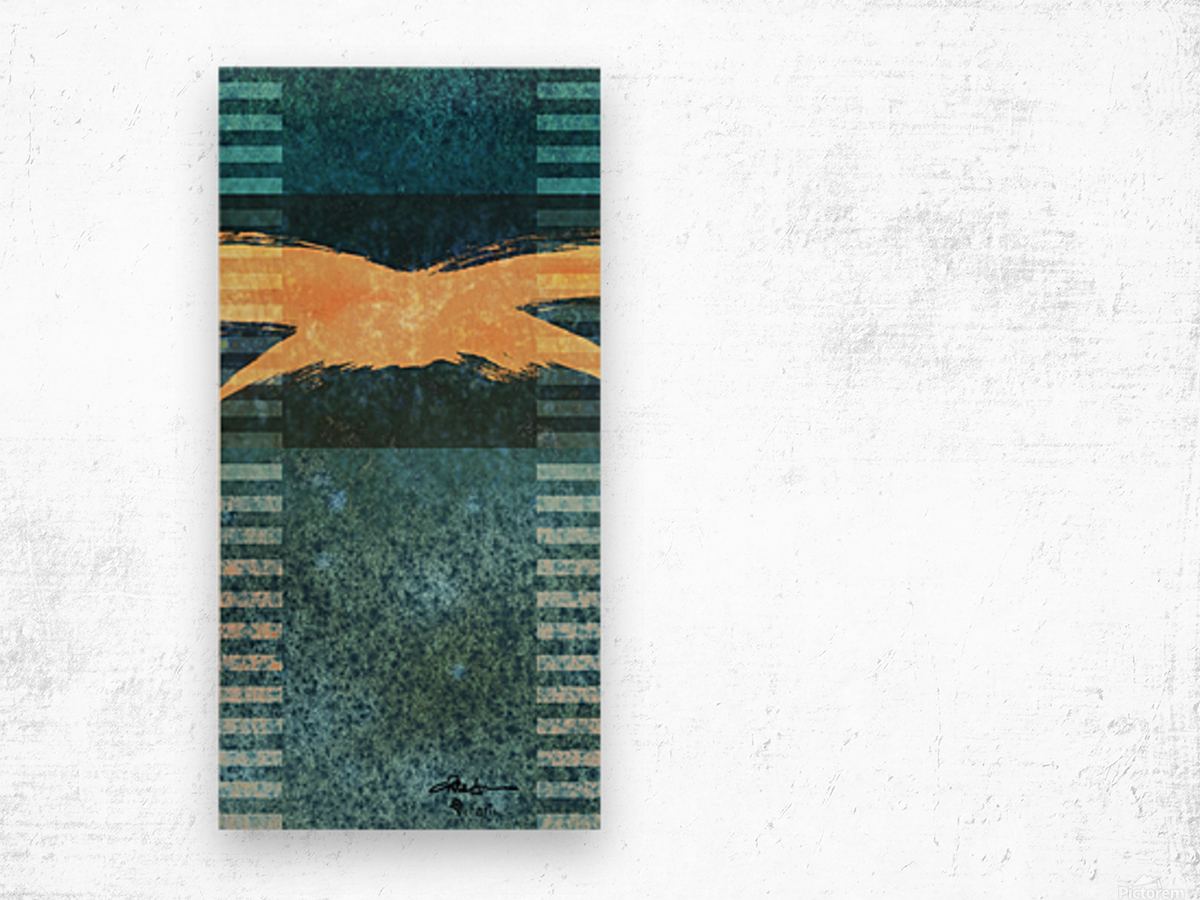 Swash & Cadence in Teal 1x2 Wood print