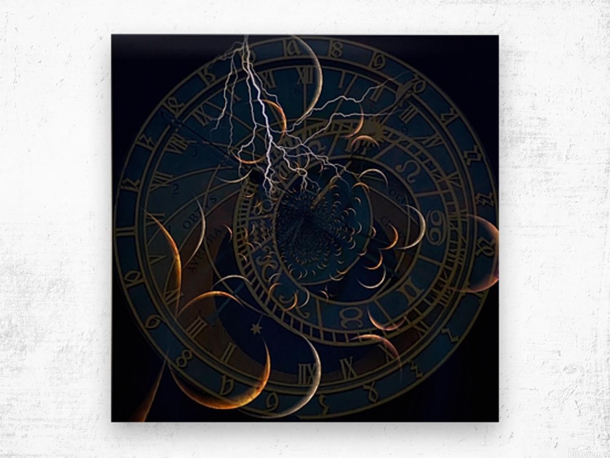 Zodiac Time Wood print