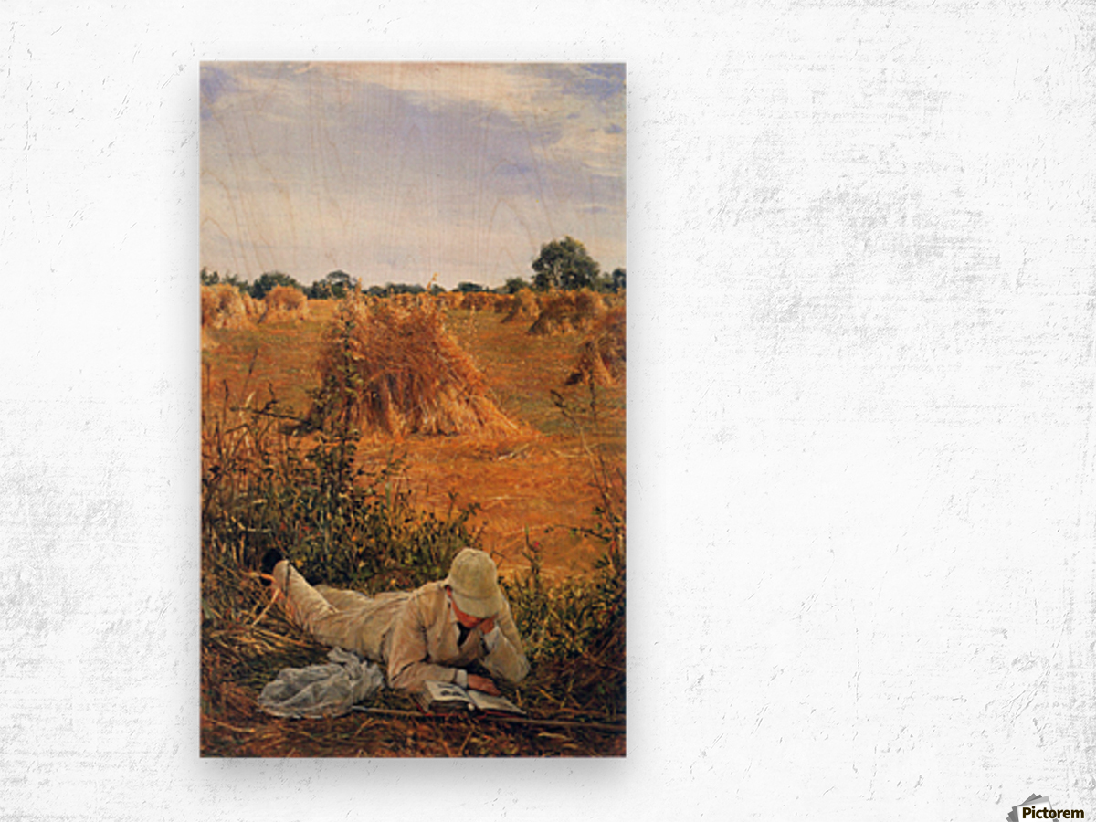 94 degrees in the shade by Alma-Tadema Wood print