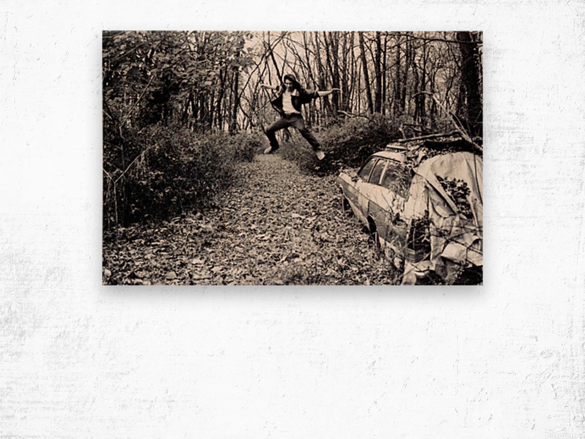 Back Driveway Superhighway Wood print
