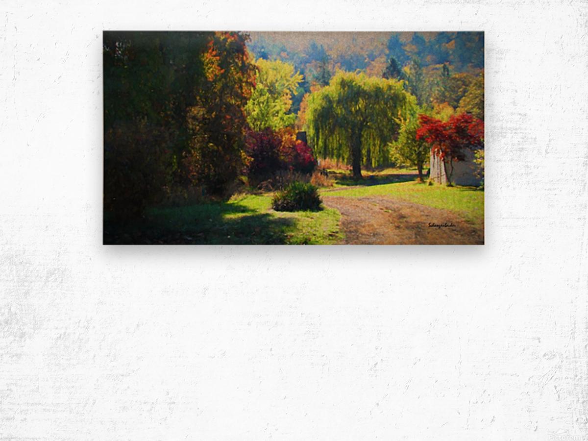 Losing the Leaves Wood print