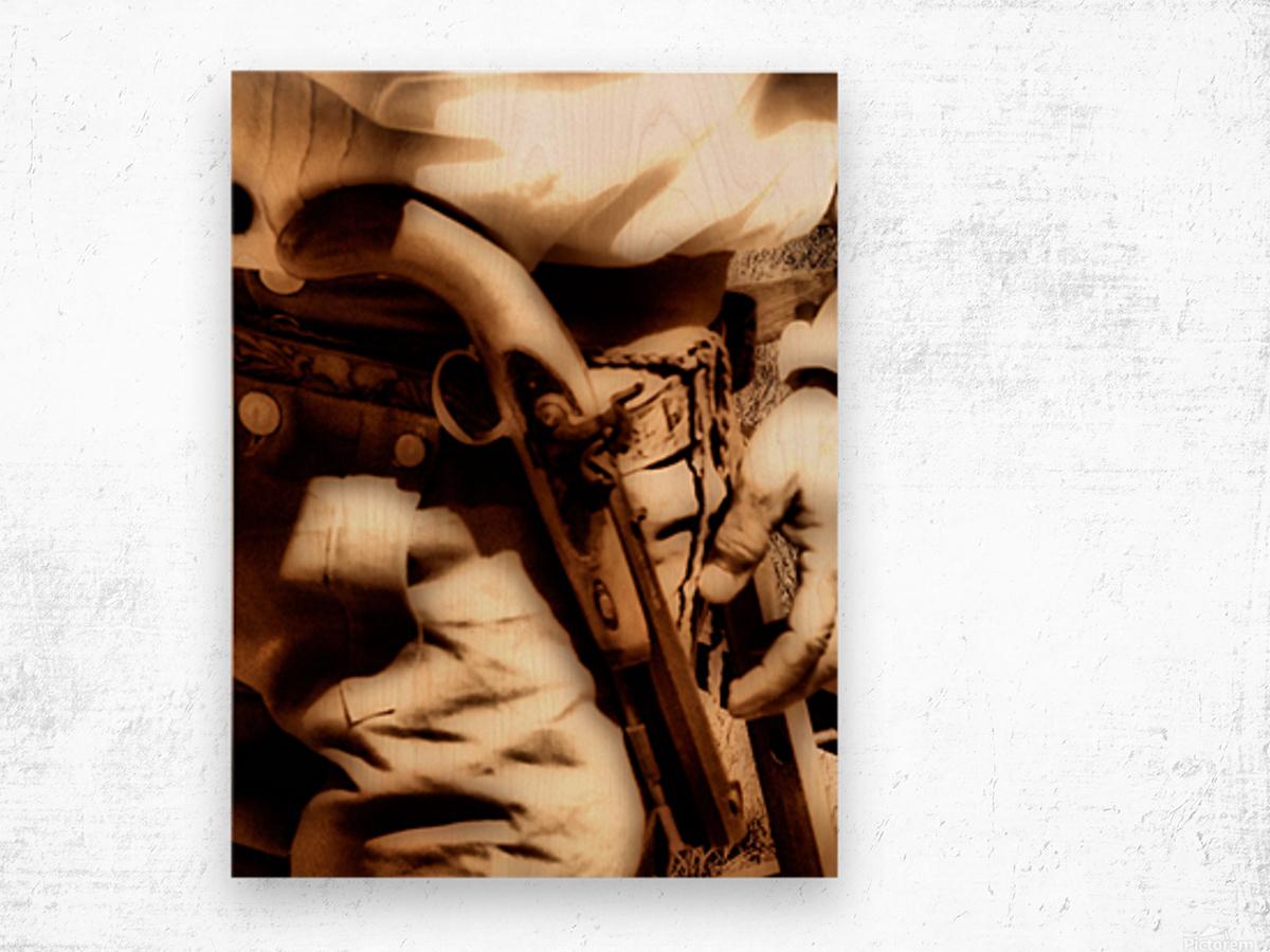 U.S. Civil War Gun and Holster  Wood print
