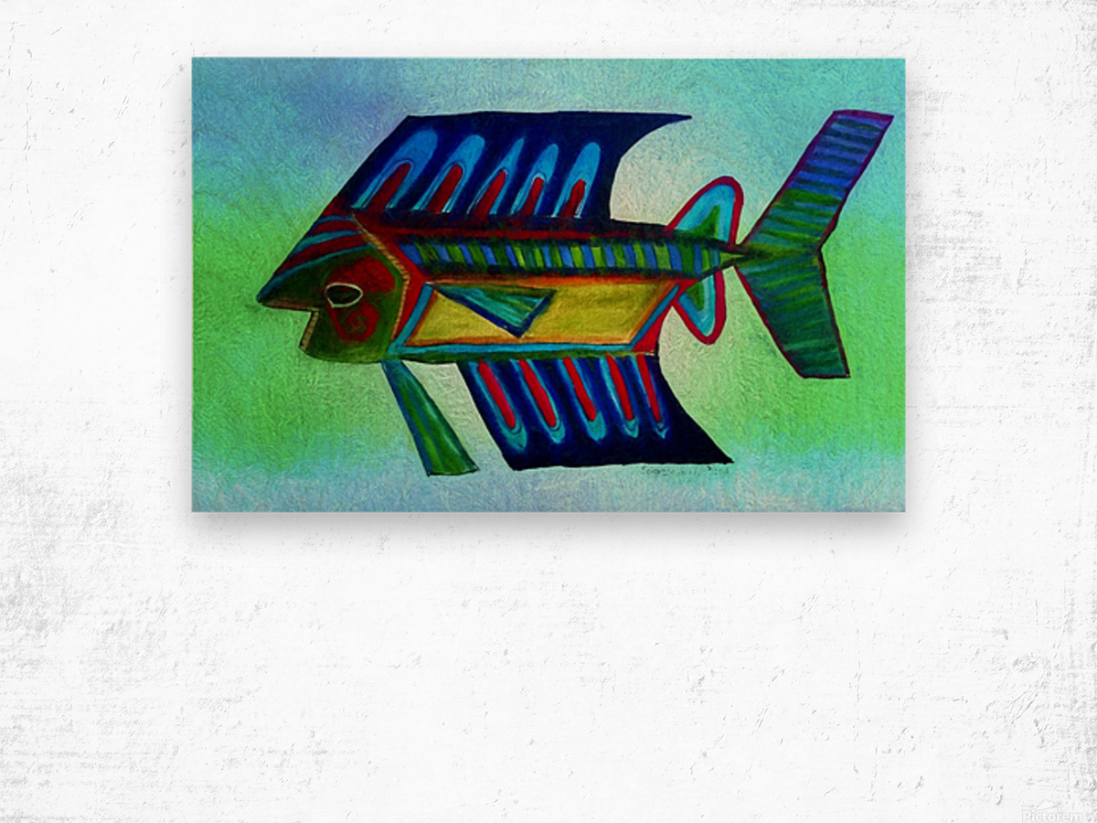 You Cant Eat a Blue Fish Wood print