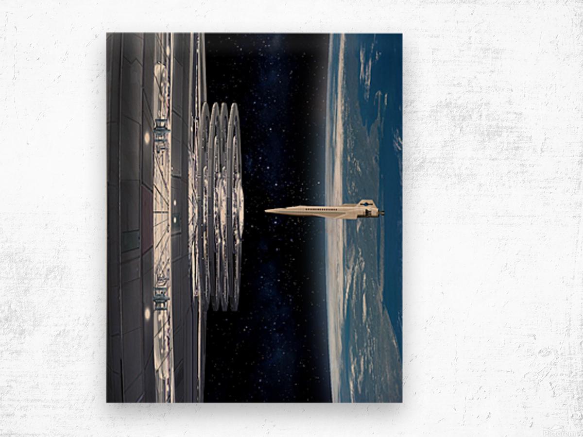 Shuttle XPS-223 Wood print
