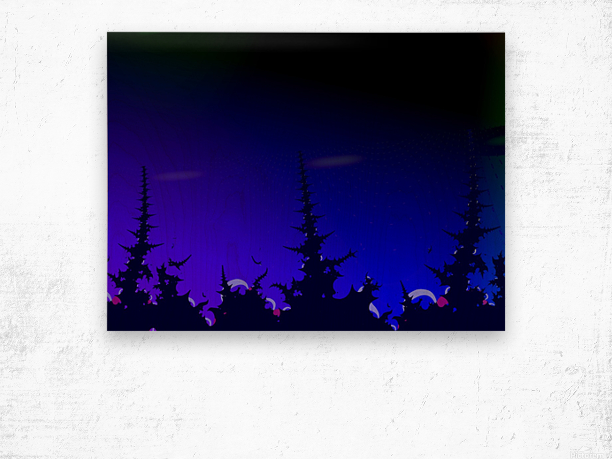 Noche_Azul Wood print