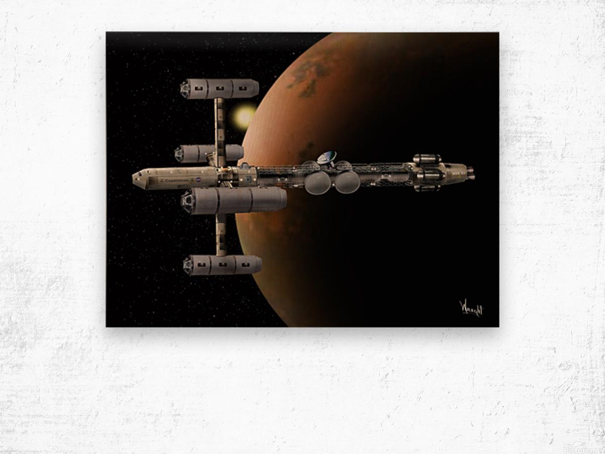 Copernicus in Mars Orbit Wood print