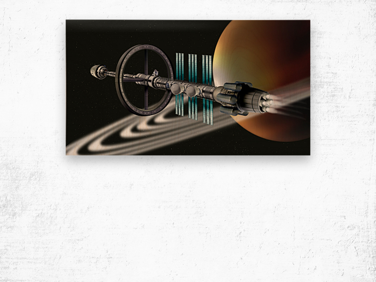 Starship Radial Alliance Wood print