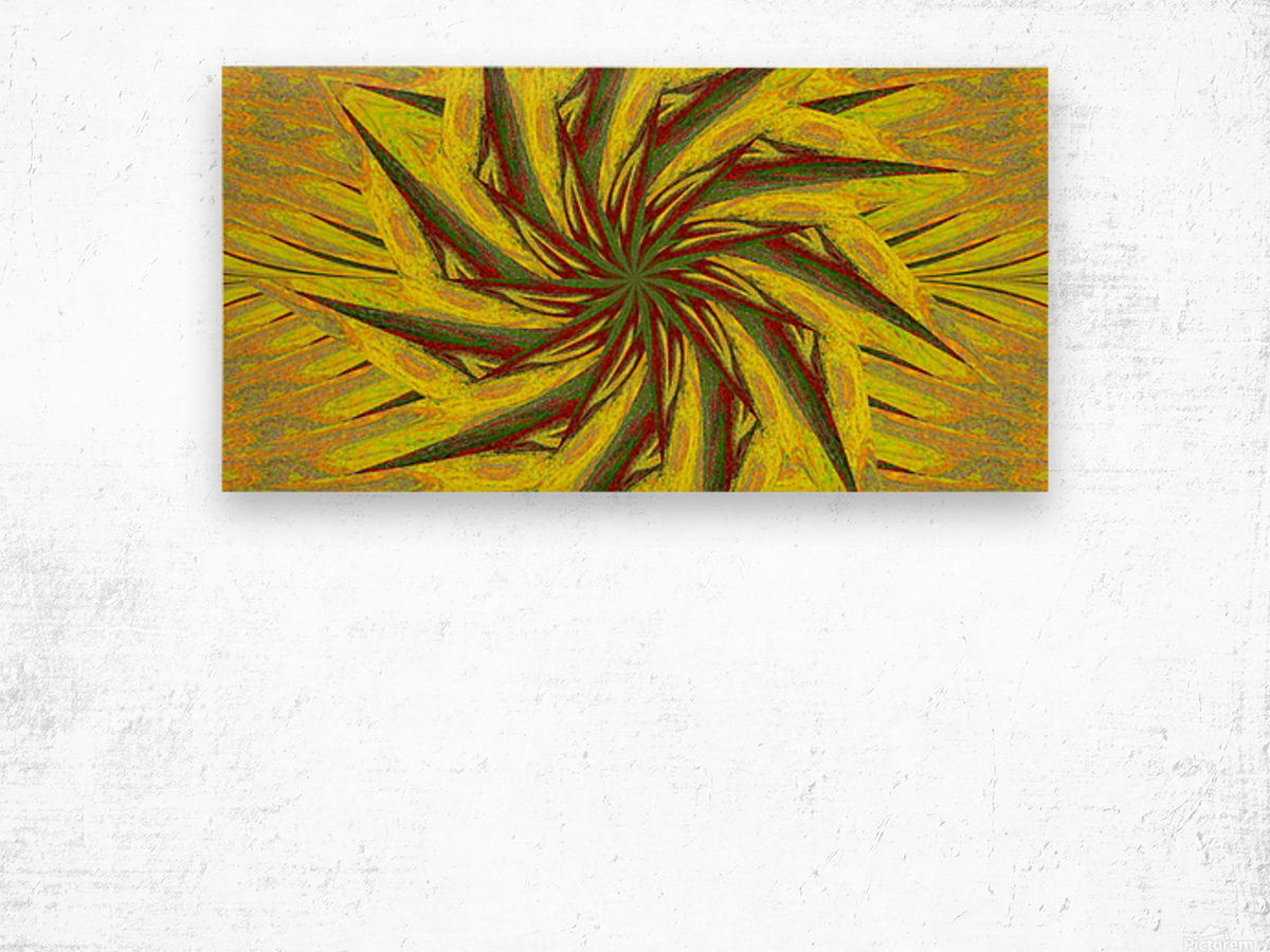 A Flower in the Wind 1 Wood print