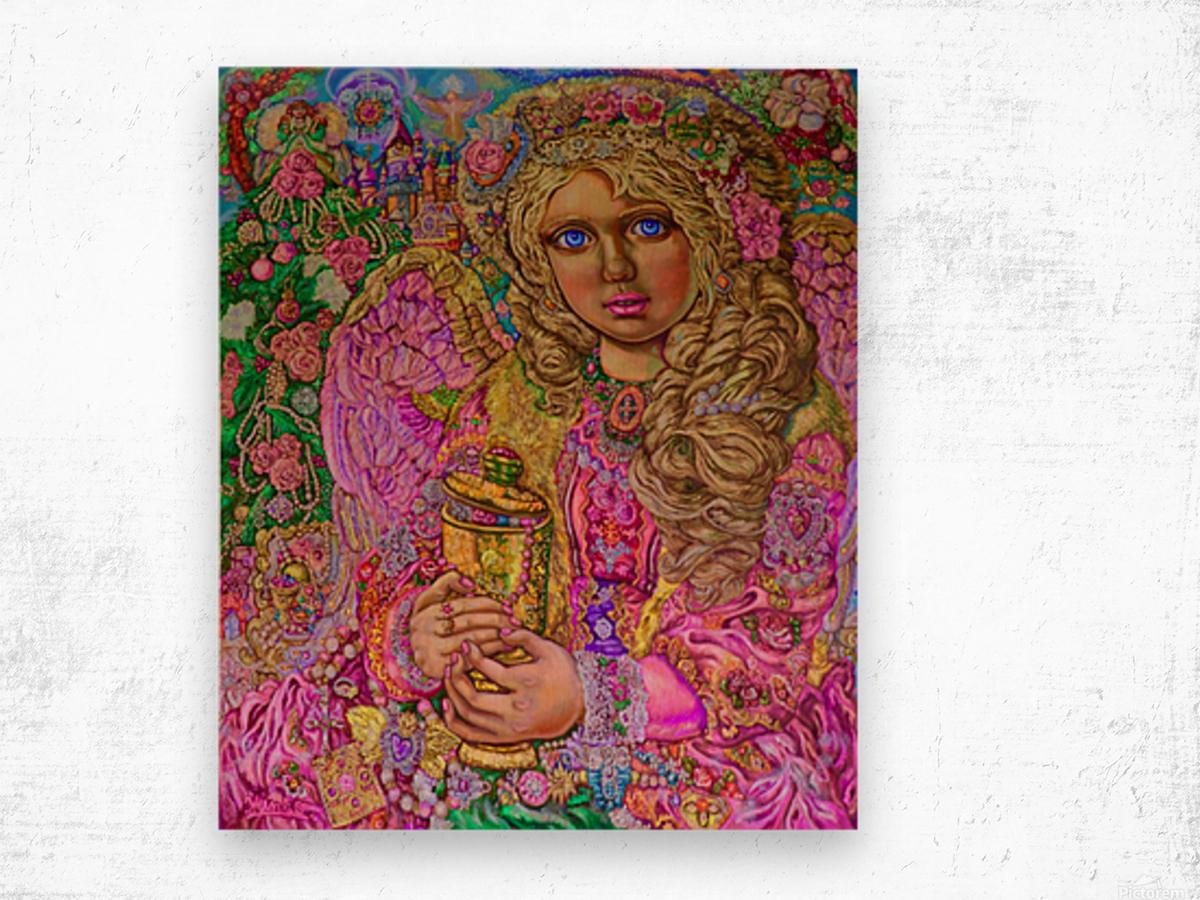 Yumi Sugai. An angel of Christmas of the jewel  Wood print
