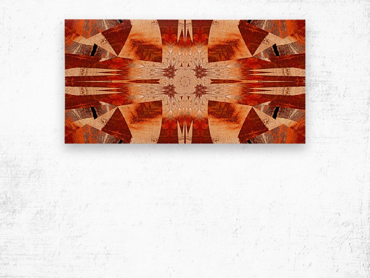 Faraway Flower Wood print