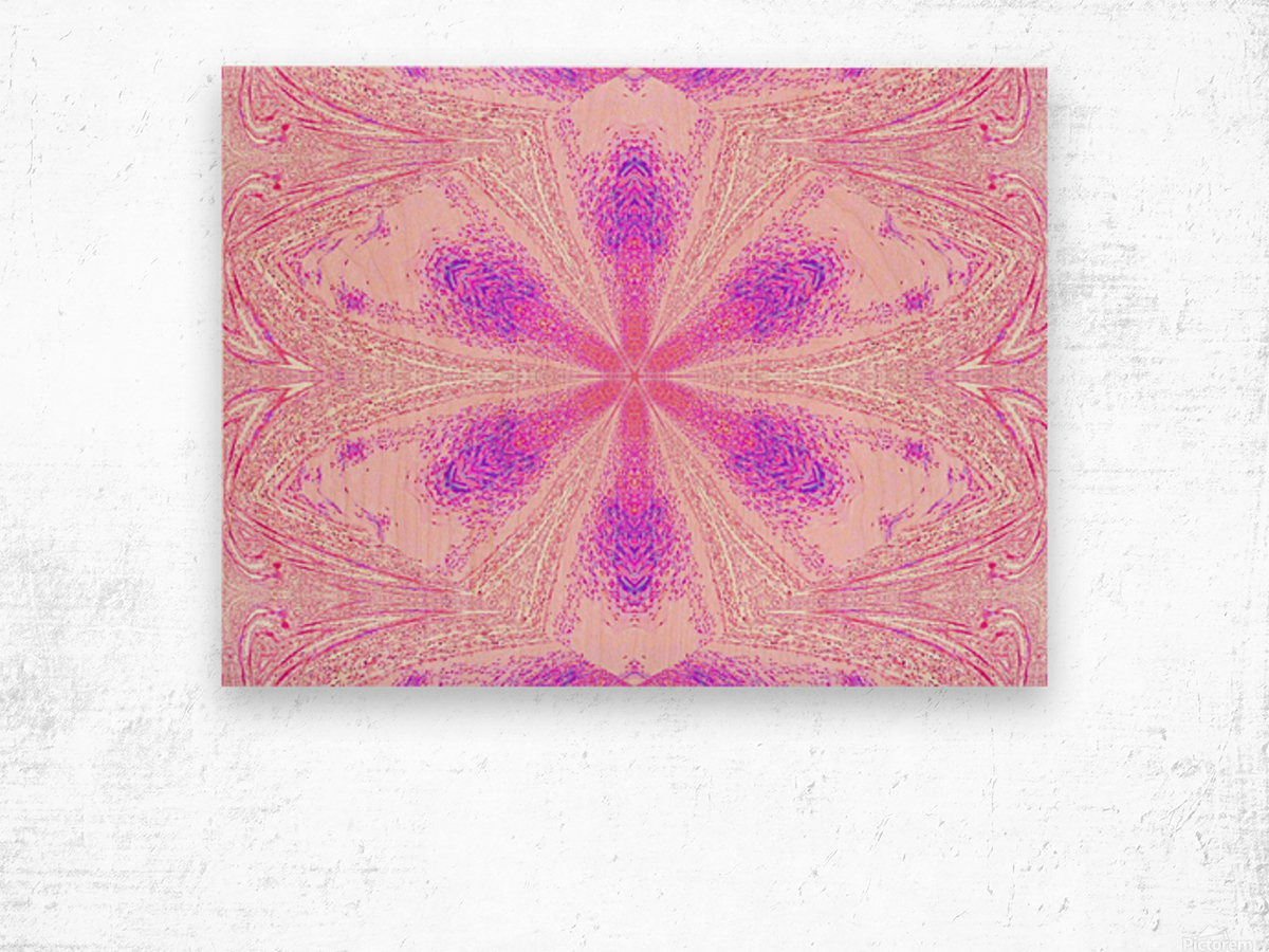 Flower in Pink Light Wood print