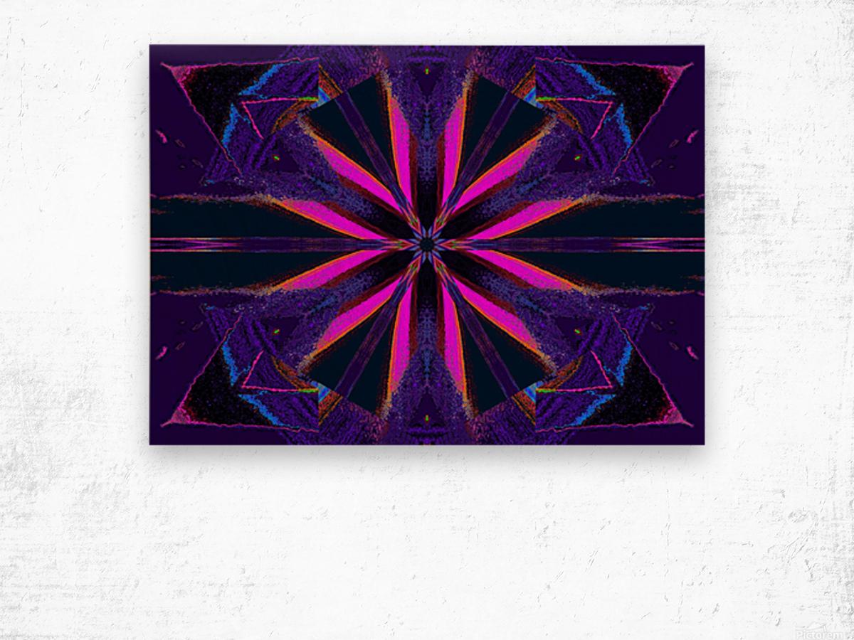 Pink Glow Wildflower Wood print