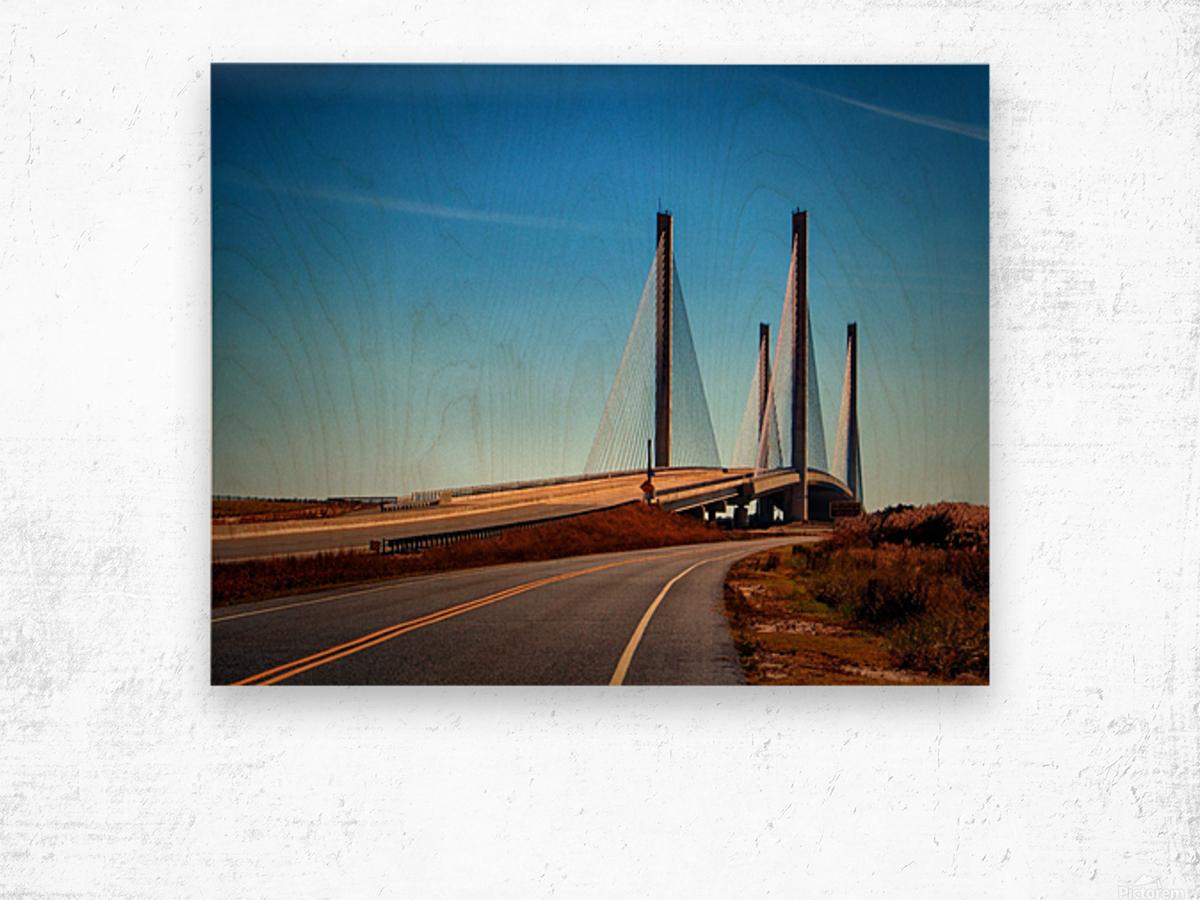 Indian River Bridge North Approach Wood print