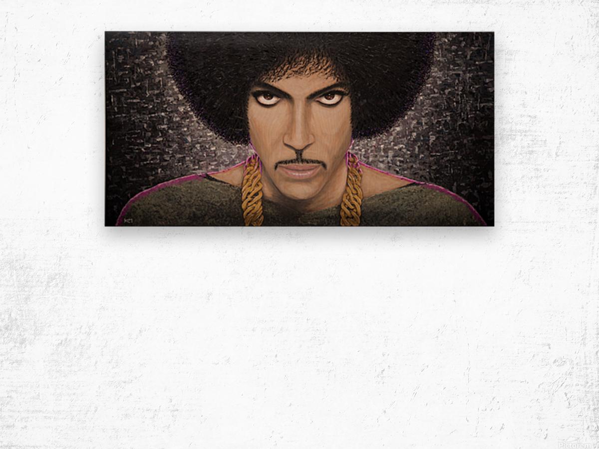 Purple Transcendence Wood print