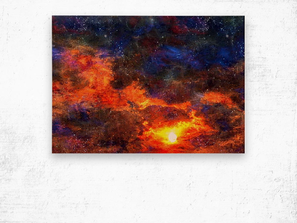 Twilight Scene Wood print