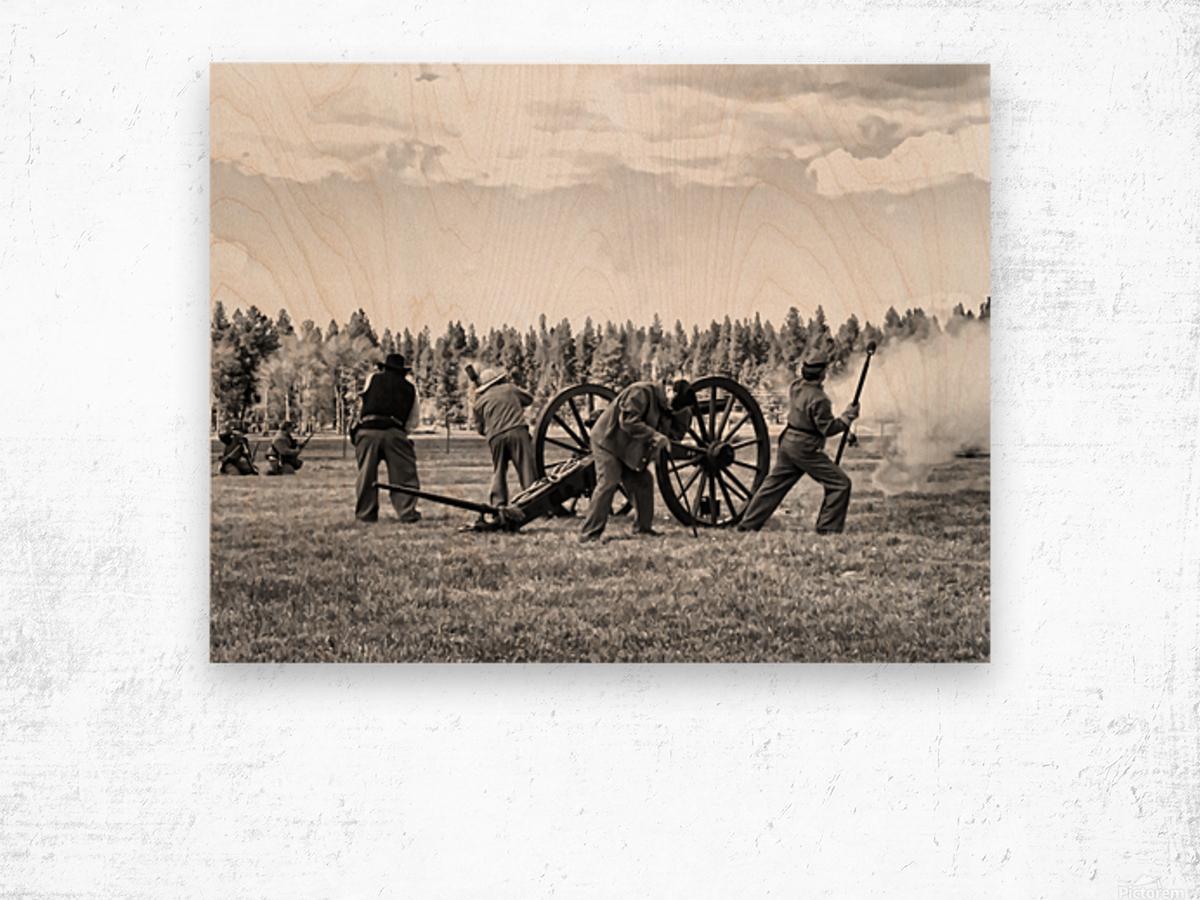Civil War Re-enactment Wood print