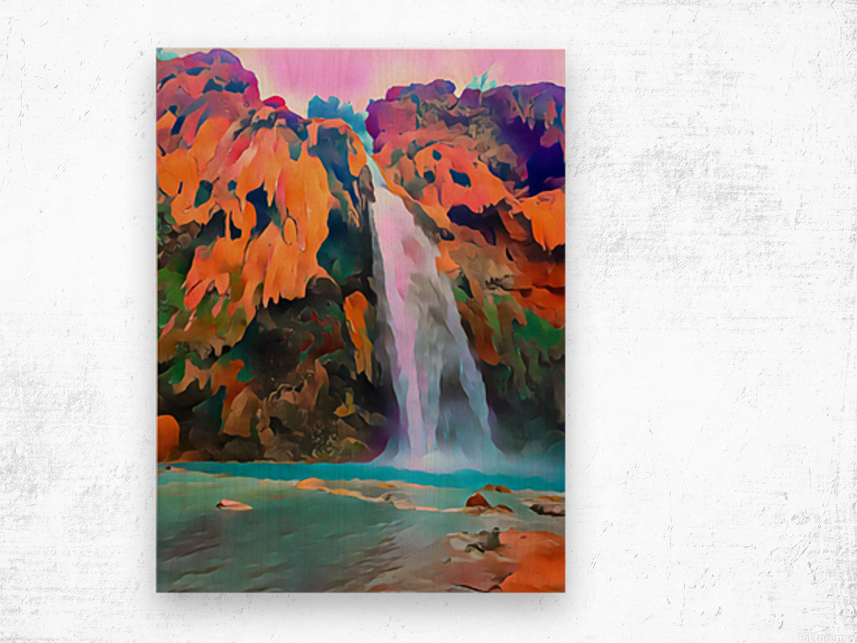 Havasupai Waterfall Wood print