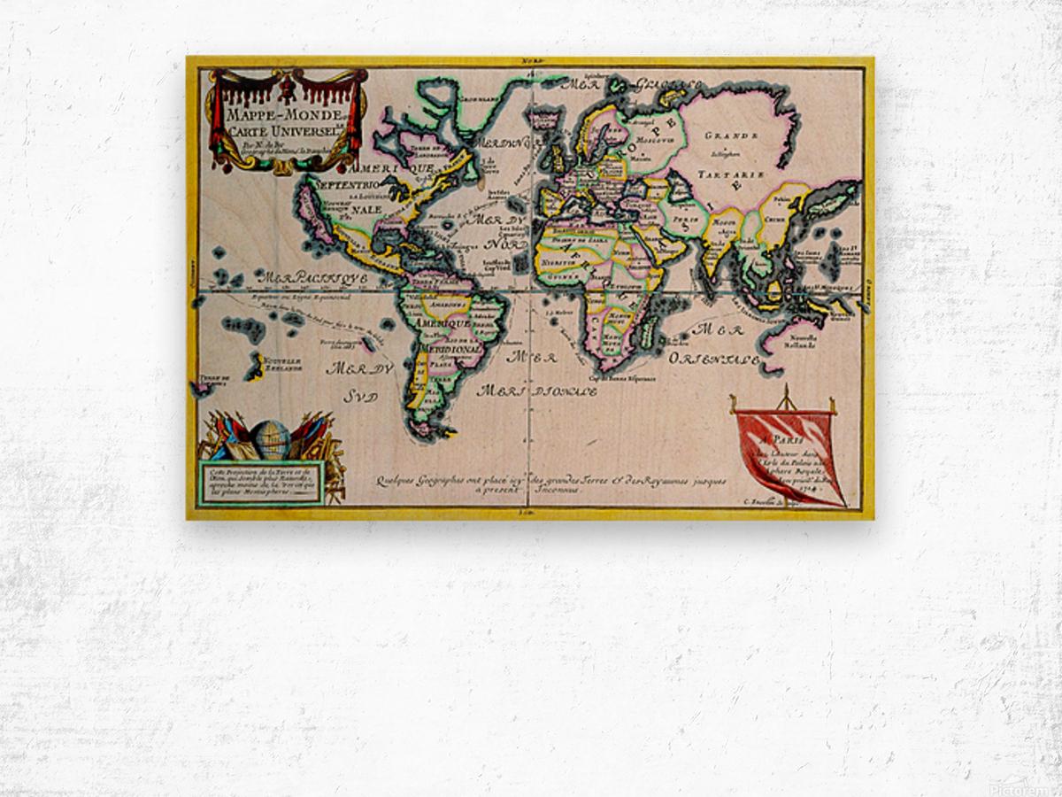 Ancient World Map 4 Wood print
