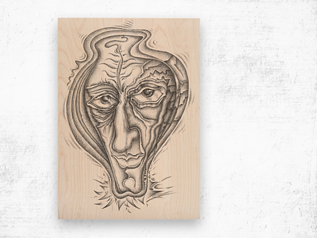Portrait_1 Wood print