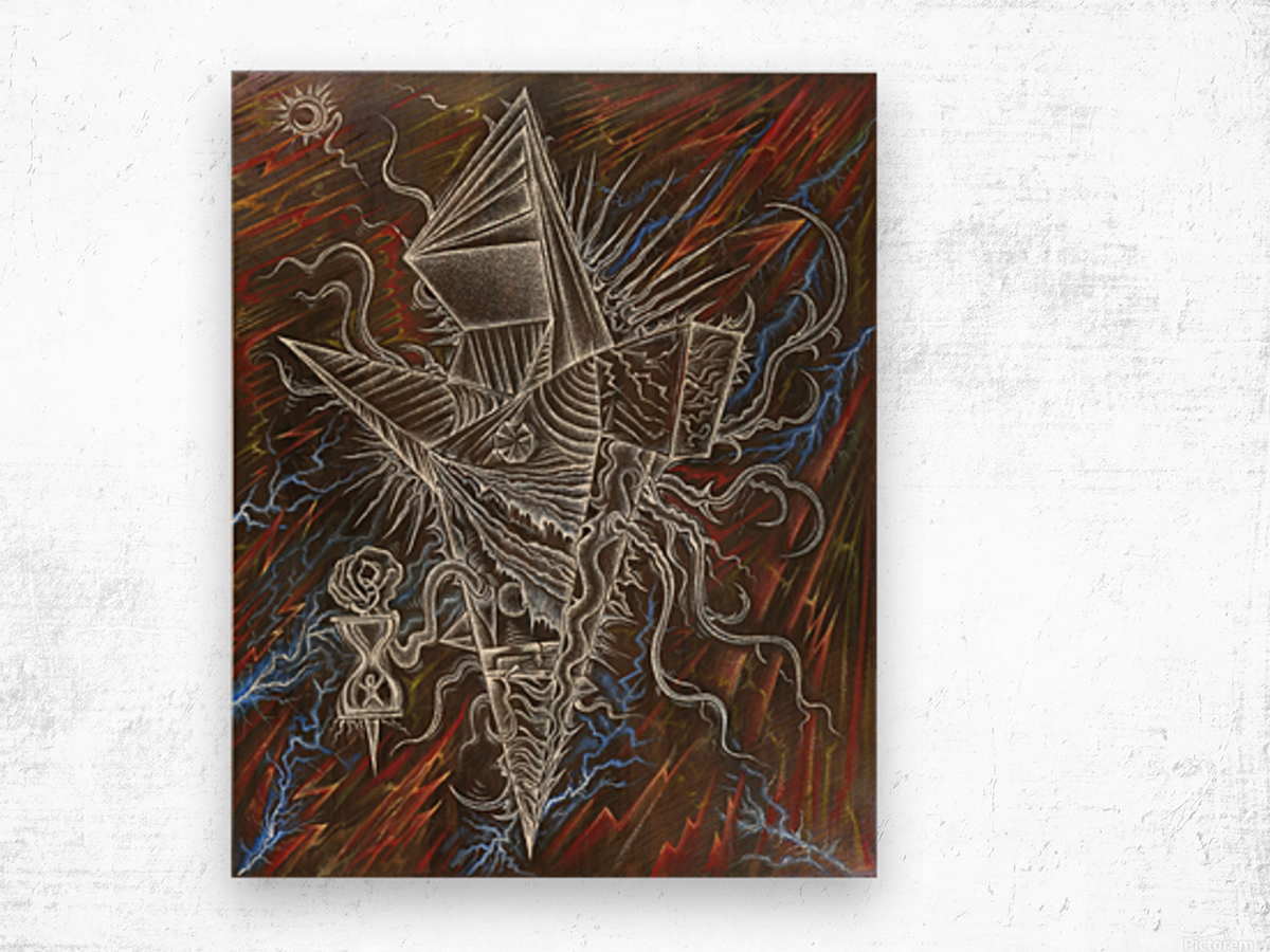 Deity_From_The_Abyss_2 Wood print