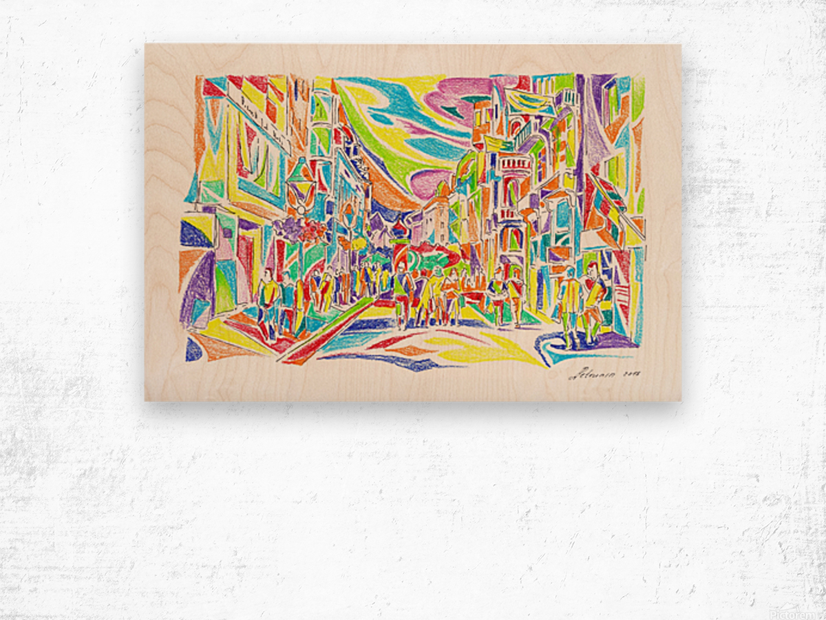 Gettin_Out_Of_Dodge Wood print