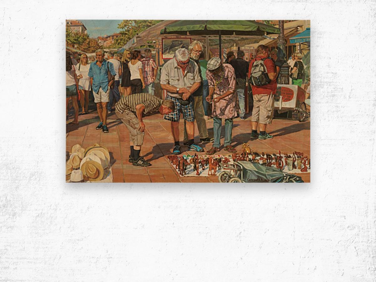 Market_In_Nice Wood print