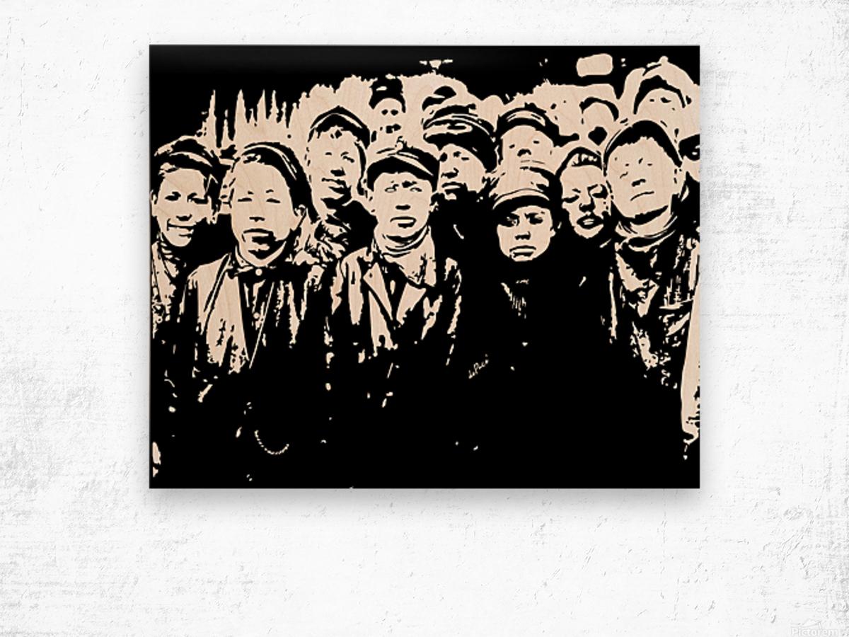 Breaker Boys 1900s Wood print