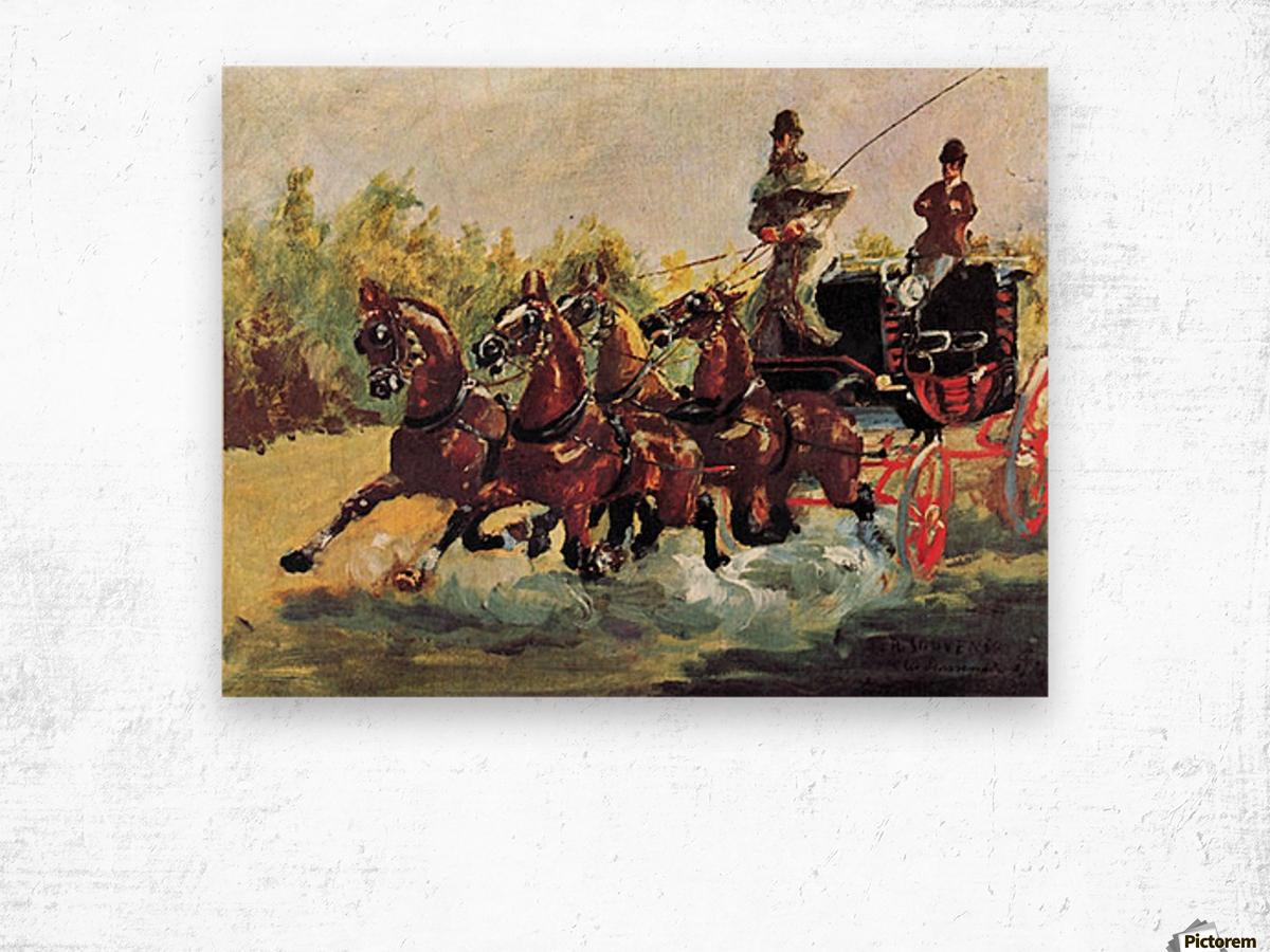 Count Alphonse de Toulouse-Lautrec Wood print