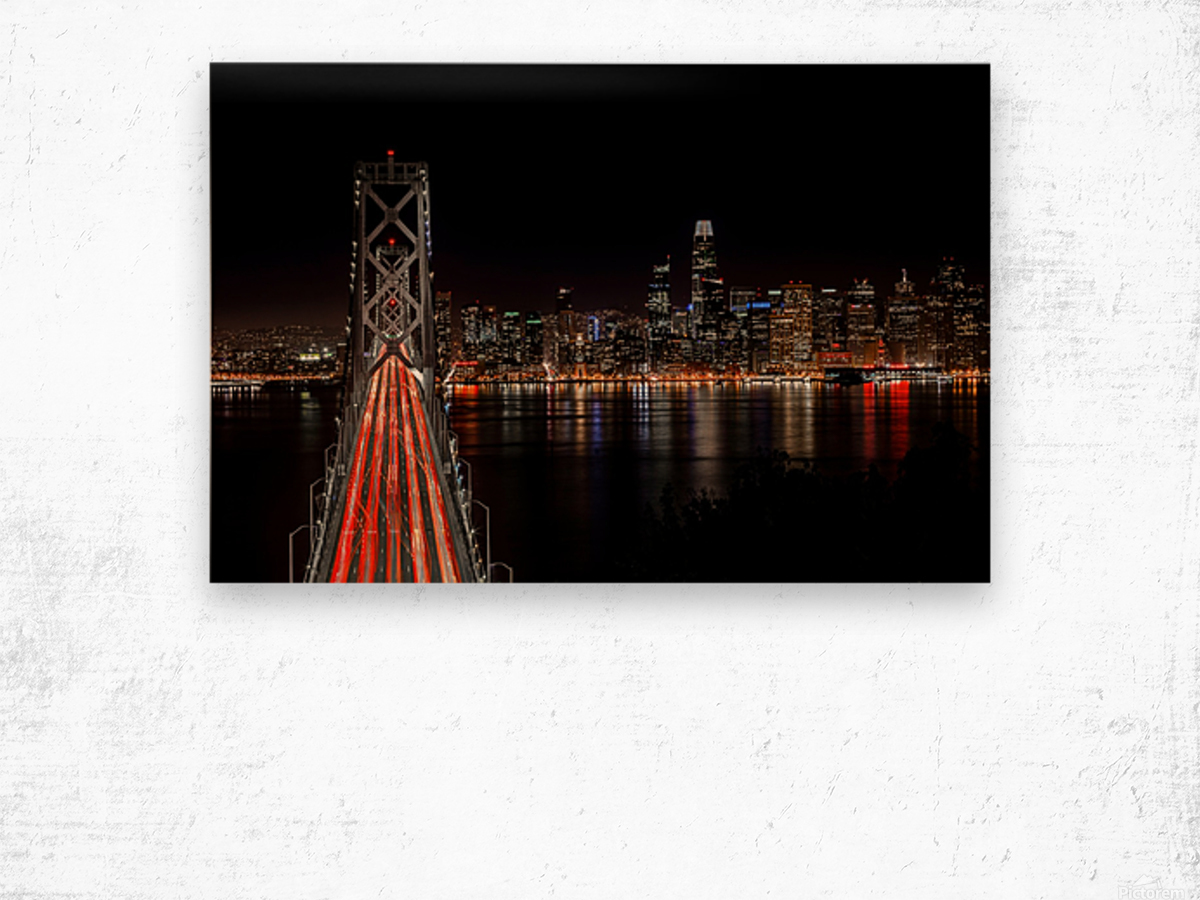 Spin City Wood print