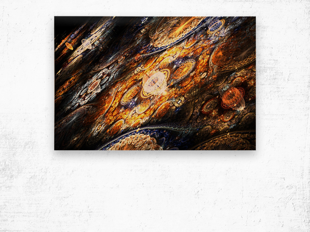 Land of pleasures Wood print