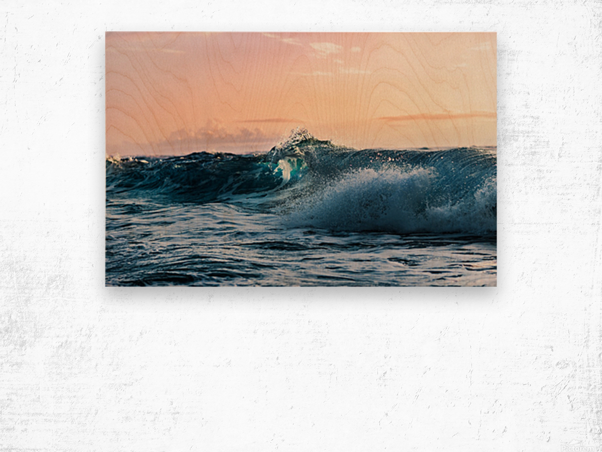 Blue Break Wood print