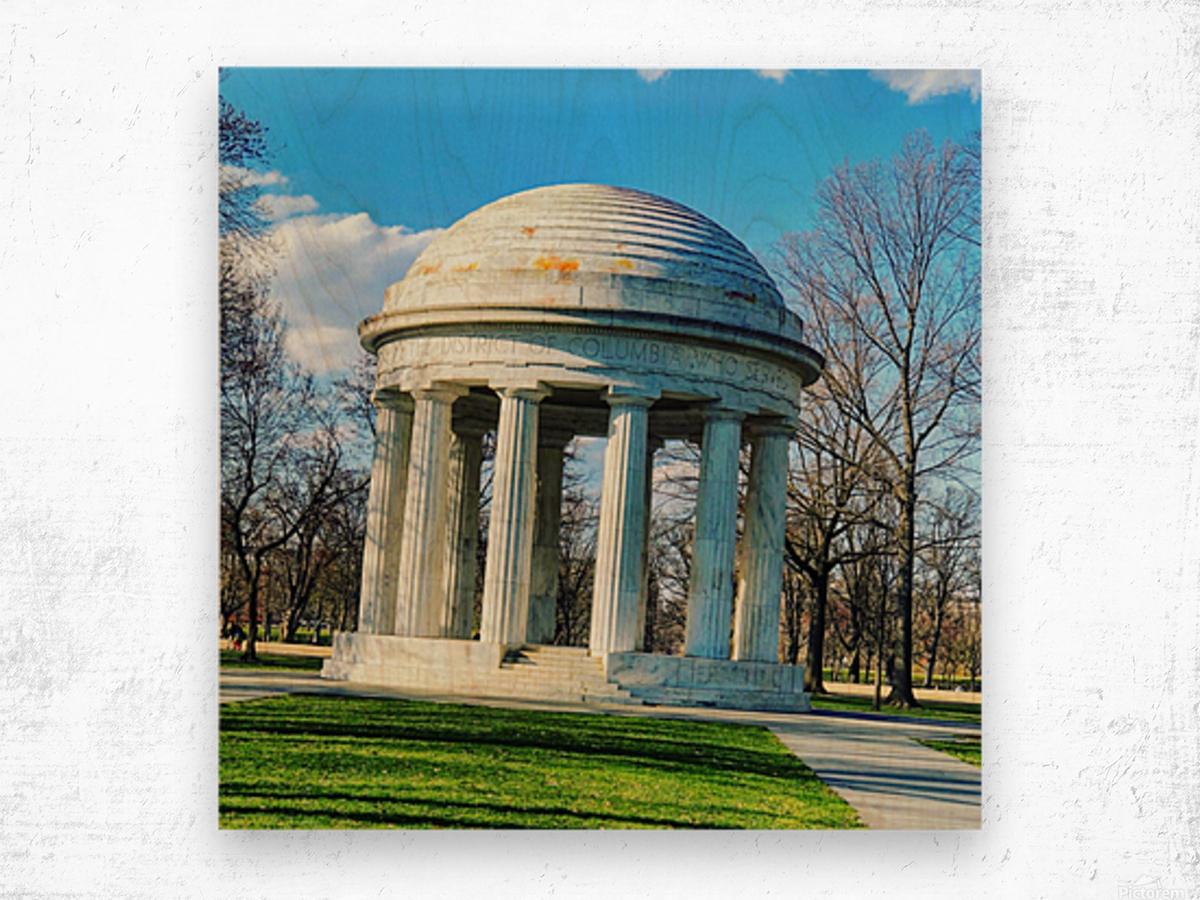 DC War Memorial Wood print