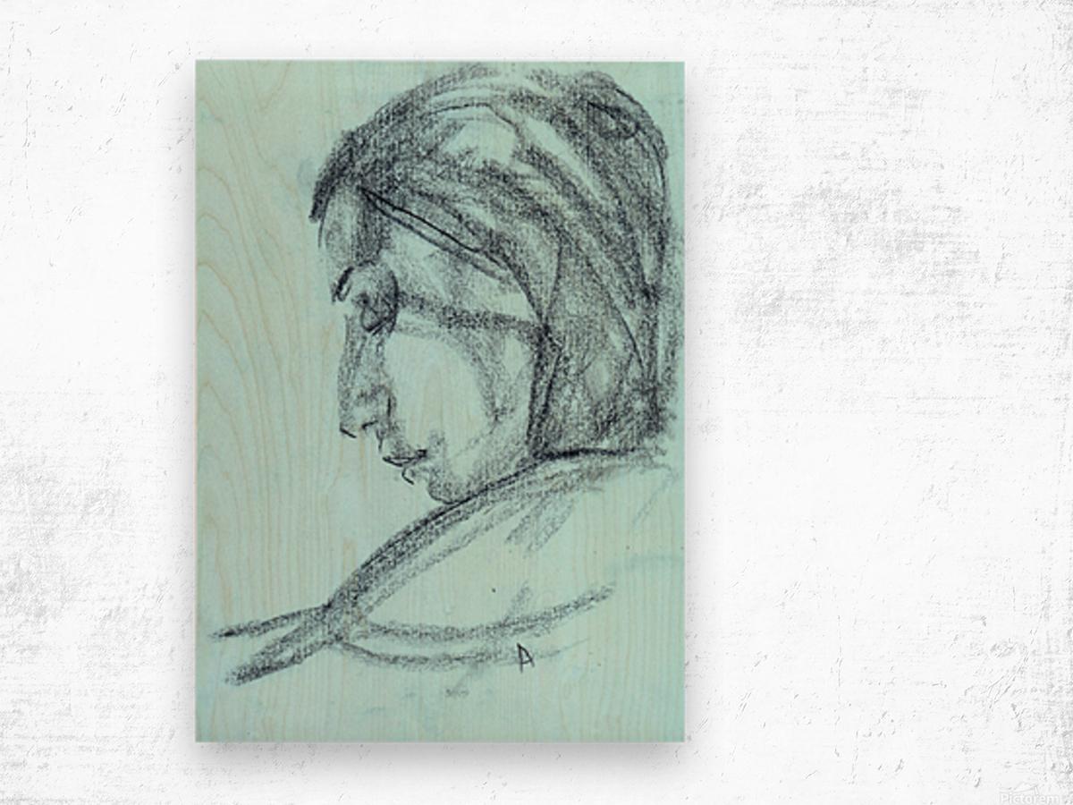 Lite blue Wood print